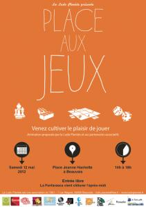 Affiche de la Place aux Jeux 2012